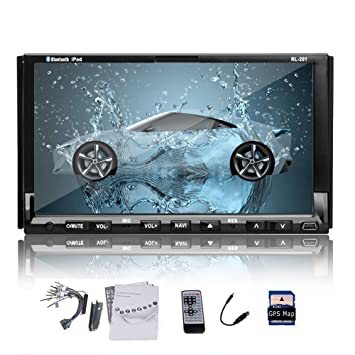 Double 2DIN stšŠršŠo 7''HD Navigation GPS Lecteur DVD de voiture au tableau de bord Radio iPod MP3