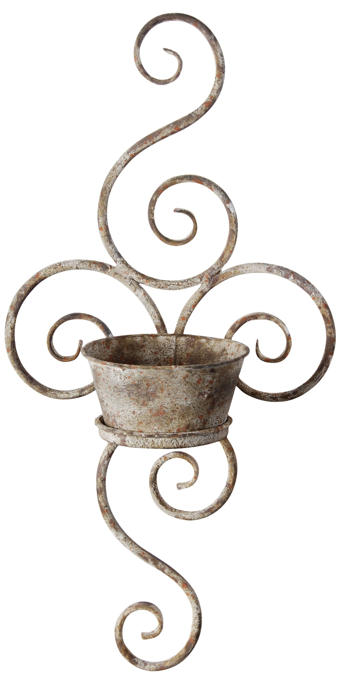 Outdoor Wall Art Metal Scroll : New scroll design metal wall planter decorative rustic
