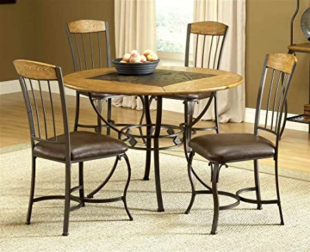 Lakeview 5-Piece Round Dining Set w/Wood Chairs