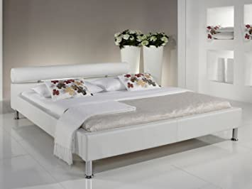 "Polsterbett Bett Betten Ehebett Doppelbett Jugendbett Einzelbett ""Arno I"" (120x200 cm, Weiß)"
