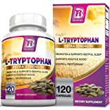 BRI Nutrition L-Tryptophan - Natural Sleep Aid Tryptophan Supplement to Encourage Relaxation, Combat Stress & Encourage Restful Sleep - 1500mg Servings, 120 Count (Color: 120 Count, Tamaño: 120 Count)