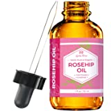 Rosehip Seed Oil by Leven Rose, 100% Pure Unrefined Cold Pressed Anti Aging Moisturizer for Hair Skin & Nails 1 oz