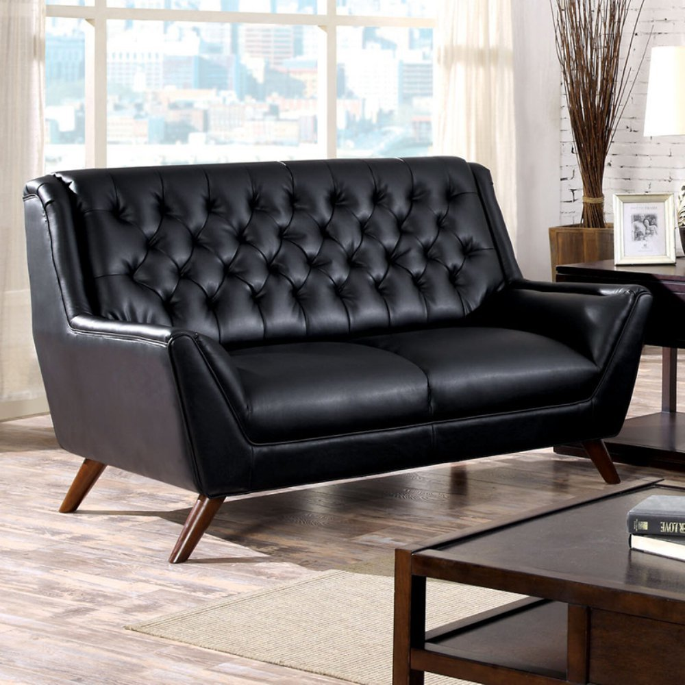 Furniture of America Stansbury Button Tufted Loveseat