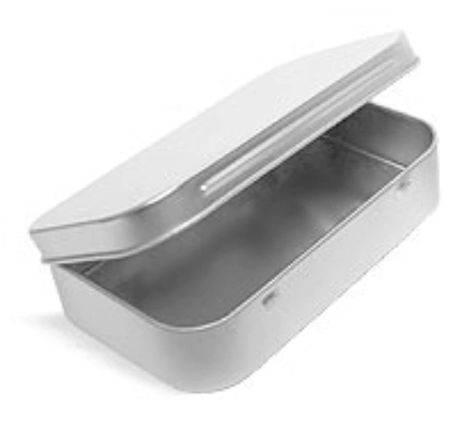 Metal Hinge Top Tin Containers