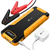 iClever [PD 30W Input & Output] 20000mAh Car Jump Starter (up to 8L Gas or 6.5L Diesel Engine), Power Delivery 30W Power Bank with Dual USB 3.0 Quick Charging for Nintendo Switch and MacBook (Color: Yellow)