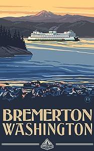 Bremerton Washington Ferry poster