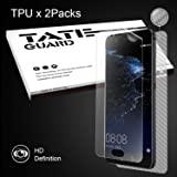 [Edge coverage & Non-lifiting] Tateguard Huawei P10 Plus Screen Protector [2+1 Pack Front & Back] [Case Friendly][Shock-Proof]