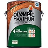 Olympic Stain 56500-1 Maximum Waterproofing Sealant, 1 Gallon, Clear (Color: Clear, Tamaño: 1 Gallon)