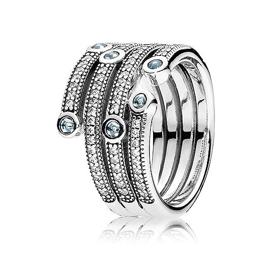 Pandora Women's Ring Shimmering Ocean 191002CZF