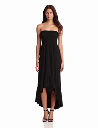 Karen Kane Women's Bandeau Maxi Dress, Black, Small