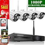 ?2019 Update? OOSSXX 8-Channel HD 1080P Wireless Security Camera System,4Pcs 1080P 2.0 Megapixel Wireless Indoor/Outdoor IR Bullet IP Cameras,P2P,App, HDMI Cord & 2TB HDD Pre-Install (Color: Full HD 8 Channel 1080P System+ 4Pcs 1080P Cameras + 2TB HDD)