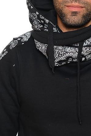 """Samson /""""Hirondelle/"""" Capuche-Sweat Capuche-Pull en Noir Avec Logo Print"""