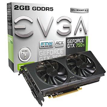 EVGA GeForce GTX 750 Ti FTW DVI I HDMI Display Port