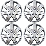 OxGord Hub-caps for 06-13 Honda Civic (Pack of 4) Wheel Covers 16 inch Snap On Silver (Color: Silver, Tamaño: 4pc)