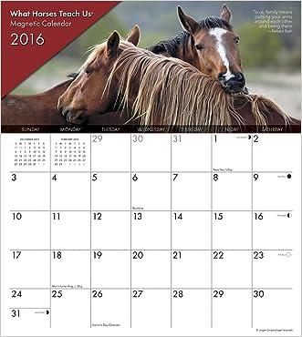 2016 What Horses Teach Us Magnetic Calendar