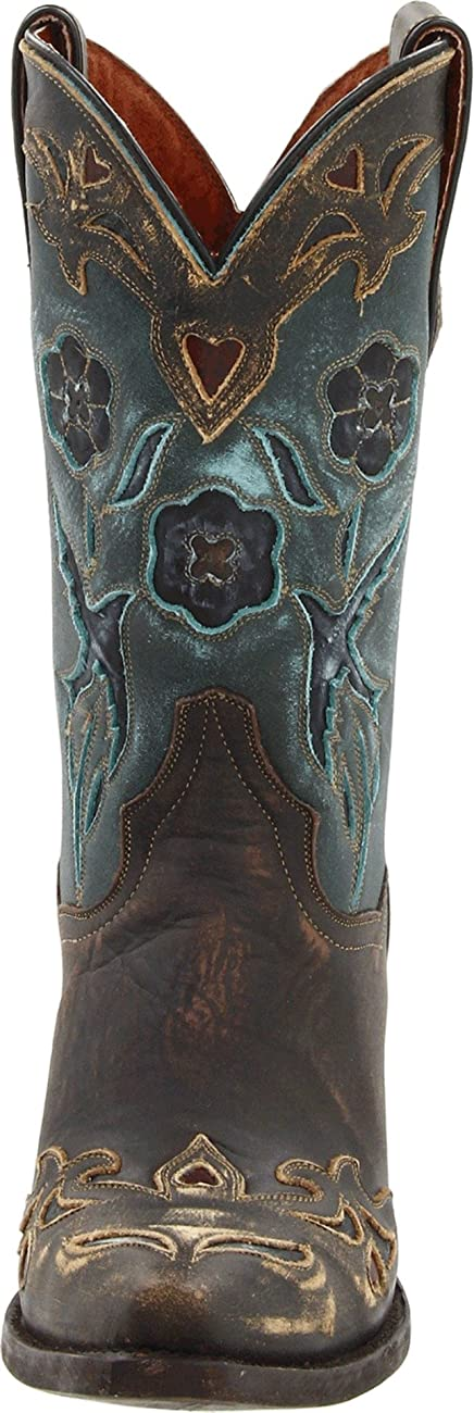 Dan Post Women's Vintage Blue Bird Western Boot 1