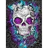 DIY 5D Diamond Painting Kits for Adults Full Drill Embroidery Paintings Rhinestone Pasted DIY Painting Cross Stitch Arts Crafts for Home Wall Decor 40x50cm/15.7x19.6Inches(Violet Skull) (Color: B-Violet Skull)