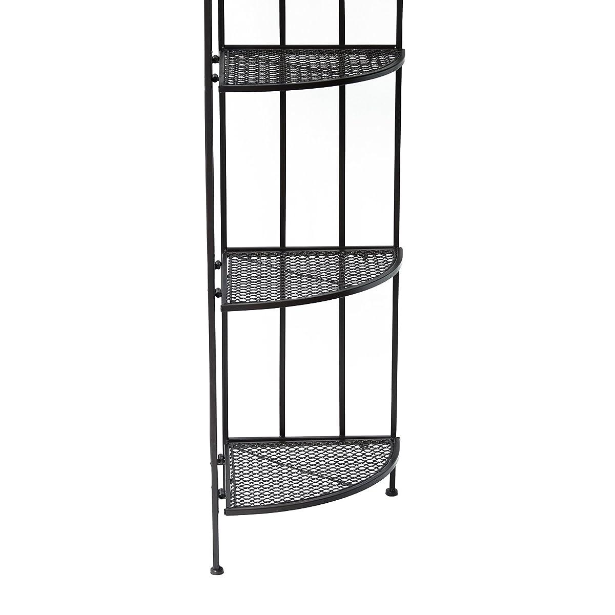 Outsunny 5 Tier Decorative Metal Corner Plant Shelf Stand