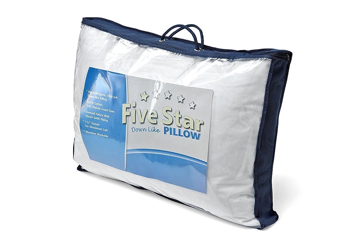 "Down Alternative Pillow - Five Star - 100% Cotton Fabric - Super Standard (20x26x1.5"") A MUST HAVE!!"