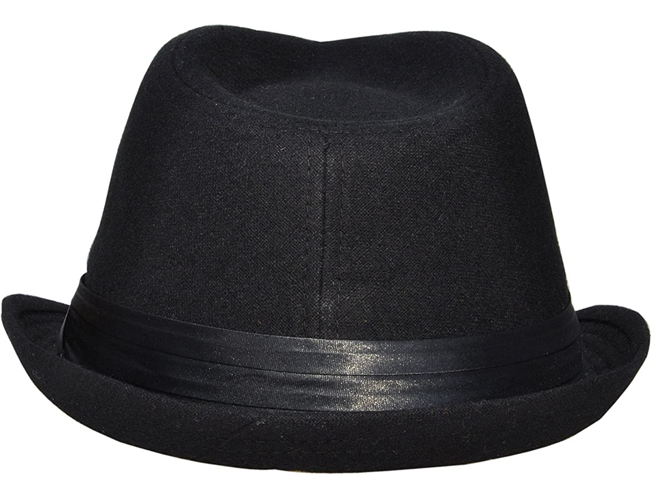 Simplicity Men Women Manhattan Structured Gangster Trilby Wool Fedora Hat 5