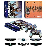PS4 Slim Skins - Decals for PS4 Controller Playstation 4 Slim - Stickers Cover for PS4 Slim Controller Sony Playstation Four Slim Accessories with Dualshock 4 Two Controllers Skin - Fornite (Color: Fornite)