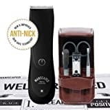 Manscaped Men's Bathroom Toiletry Grooming Tools, Includes High Performance Electric Manscaping Trimmer and Stainless steel 5 piece Nail Kit, plus Free Disposable Shaving Mats