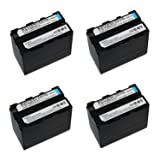 4 pcs 7200 mAh NP-F960 NP-F970 NP F970 NP F960 Rechargeable Camera Battery for Sony NP-F550 F770 F750 F960 F970