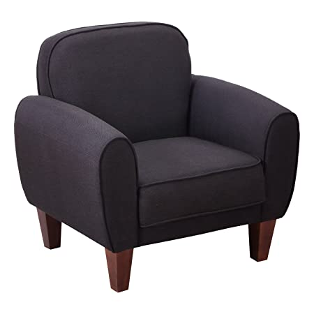 Homcom® Fernsehsessel Relaxsessel Armsessel Lounge Clubsessel Sessel Leinen 3 Farben (Schwarz)
