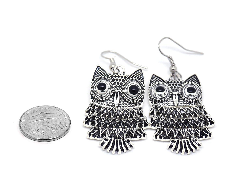 Liroyal Owl Earrings Size 7