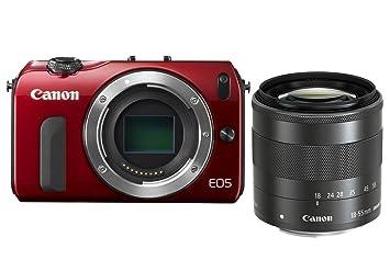 Canon EOS M Appareil photo numérique Réflex 18 Mpix Kit Boîtier + Objectif 18-55 Mm Rouge