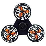 Alonea Fidget Toy, Tiny Toy Drone Flying Fidget Spinner Stress Relief Gift Flying Gyroscop Toy (Black??) (Color: Black??)