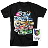Voltron Legendary Defenders Paladins T Shirt & Exclusive Stickers (Small) (Color: Black, Tamaño: Small)