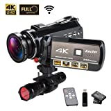 4K Wifi Full Spectrum Camcorders, Ultra HD Infrared Night Vision Paranormal Investigation Video Camera with 60fps 24MP 30X Digital Zoom - Ghost Hunting Camera