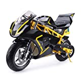 SAY YEAH Electric Pocket Bike 36V 500w Motor Dirt Pit Bike,Kids Mini Motorcycle,Battery WERCS Certificate Electric Scooter for Boys and Girls (Color: yellow)