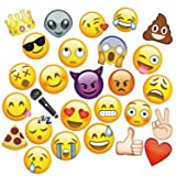 MOT Global Emoji Photo Booth Props - 27 Pieces Party Kits Photo Booth Props for Wedding Birthdays Reunions (Diameter Up To 7.87