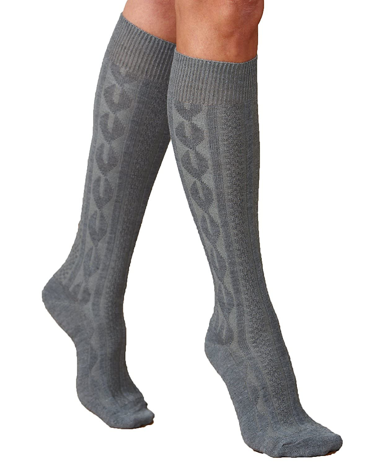 Knitting Pattern Knee High Socks : Cable Knit Socks Knee High images