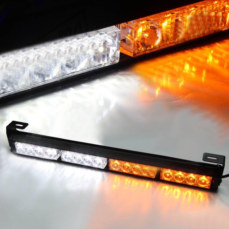 16 led 18 amber yellow emergency traffic advisor flash. Black Bedroom Furniture Sets. Home Design Ideas