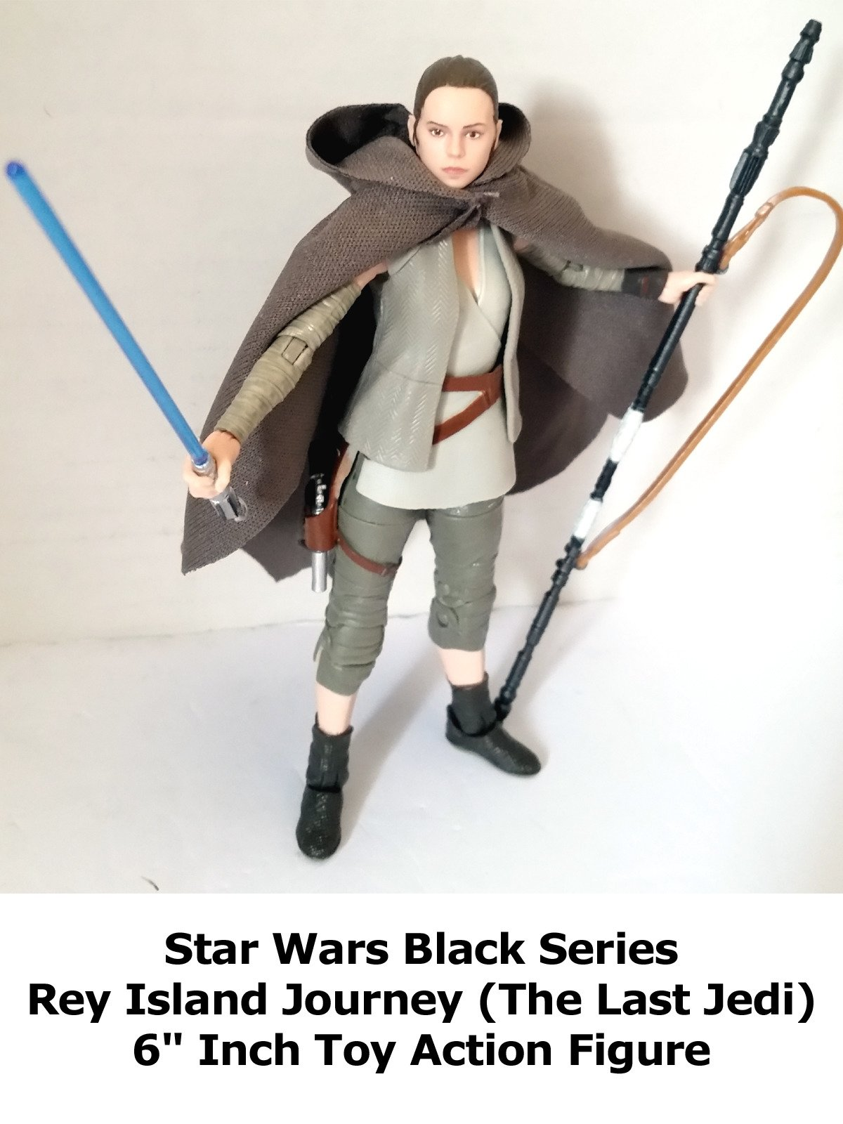 "Review: Star Wars Black Series Rey Island Journey (The Last Jedi) 6"" Inch Toy Action Figure"