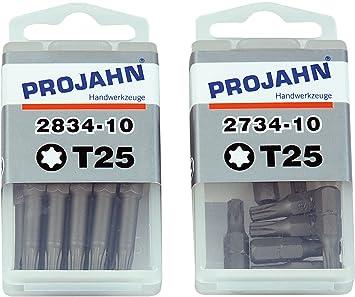 10x Profi Bit für Kugelkopf Innensechskantschrauben 5,0 mm 6kant Projahn 2785-10