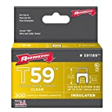 Arrow Fastener 591189 Genuine T59 Insulated Clear 5/16-Inch by 5/16-Inch Staples, 300-Pack (Color: clear, Tamaño: 5/16 Inch X 5/16 Inch)