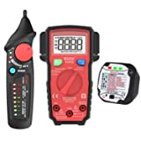 Bside Family Electricity Safety Check Kit Smart Auto-Ranging Multimeter Dual Mode Electric Voltage Detector and GFCI Outlet Tester Set (Color: Home Safety Check Kit, Tamaño: Pocket Size)
