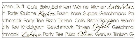 mySPOTTI  251008 profix Text Soul Food, Kuchenruckwand, 220 x 60 cm