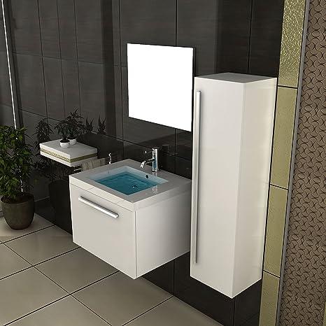 Bianco Set Completo/sottolavabo/armadio alto/Design Specchio/lavabo/Completo programmi/set da bagno