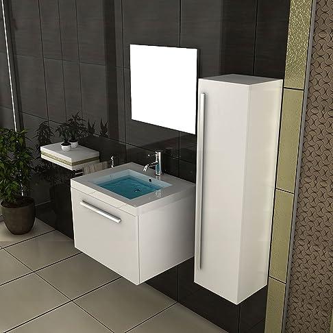 Spazio per il bagnetto/lavandino con mobiletto/Design specchio/bianco mobile da bagno/Bagno/SA