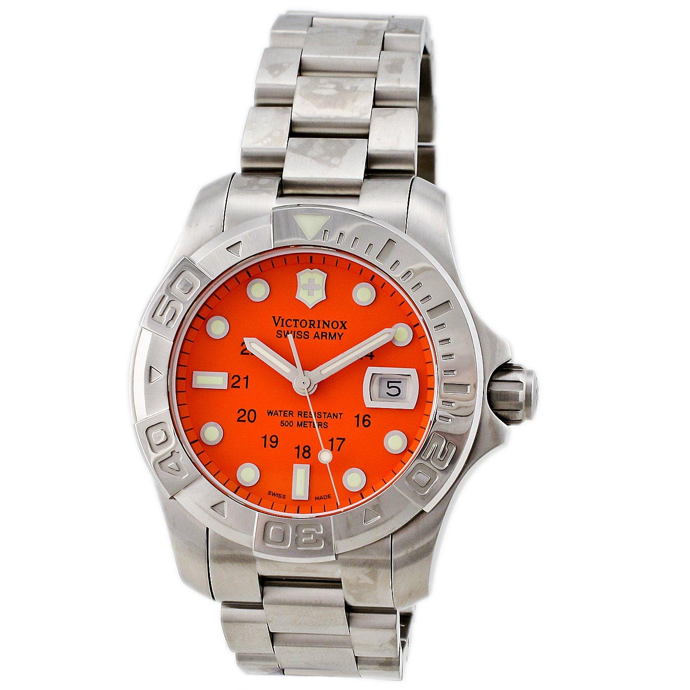 Victorinox swiss army dive master 500 orange dial 194 watch freeks - Orange dive watch ...