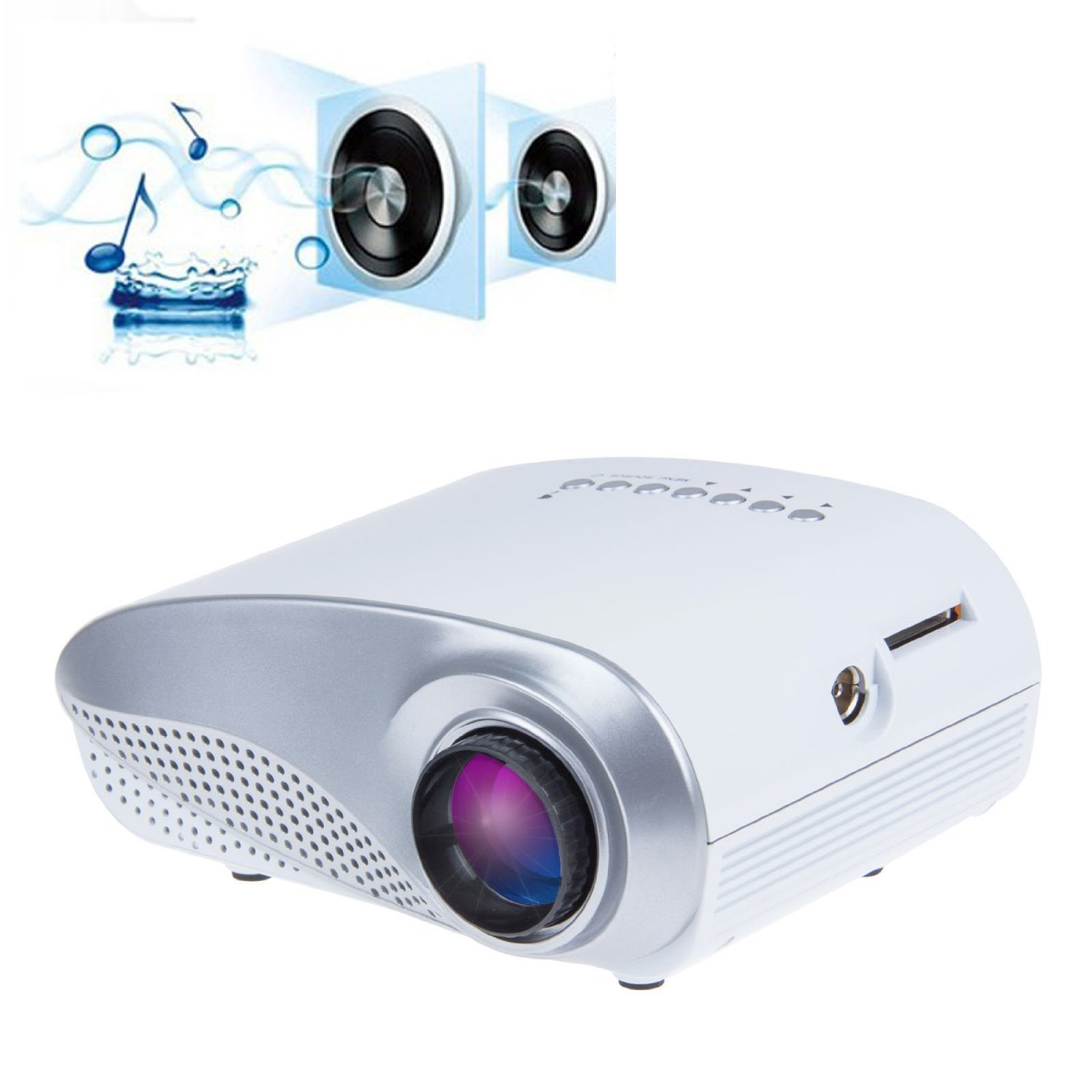 Taotaole Mini Portable Multimedia LED Projector Home Cinema Theater PC VGA USB AV HDMI SD Card