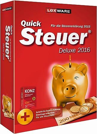 QuickSteuer Deluxe 2016 (für Steuerjahr 2015)