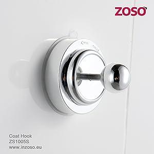 Gancho para abrigos - ZOSO - Productos de ventosa super potentes   Comentarios de clientes y más información