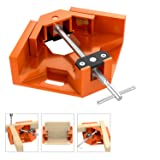 Housolution Right Angle Clamp, Single Handle 90°Corner Clamp, Aluminum Alloy Right Angle Clip Clamp Tool Woodworking Photo Frame Vise Holder with Adjustable Swing Jaw - Orange (Color: 7-orange, Tamaño: T-shaped Handle)