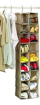schuhaufbewahrung zum aufh ngen 18 f cher f r kleiderschr nke kleiderstangen und t ren dee43. Black Bedroom Furniture Sets. Home Design Ideas